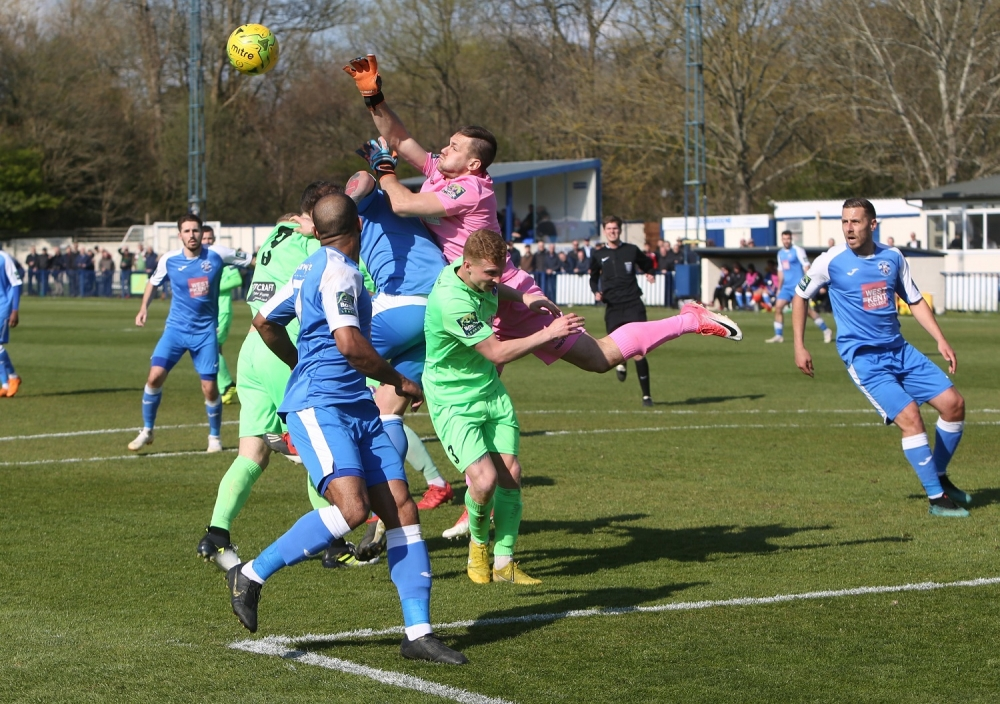 Football: Champions Dorking leave Tonbridge Angels hanging on
