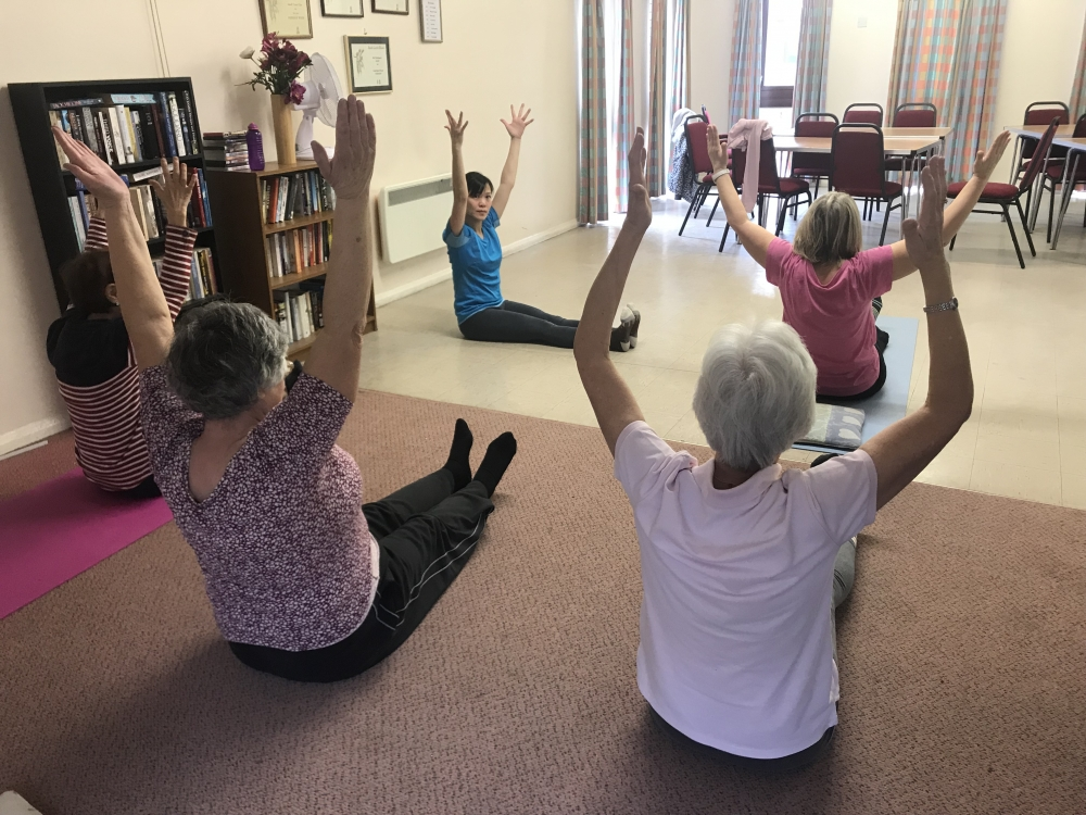Free yoga classes in Paddock Wood provide gentle exercise for seniors