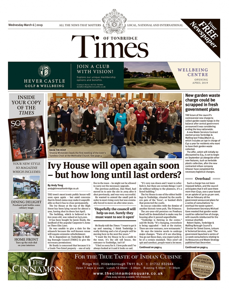 Read the Times of Tonbridge 6th March 2019
