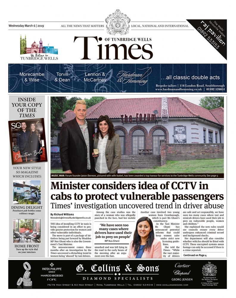 Read the Times of Tunbridge Wells 6th March 2019