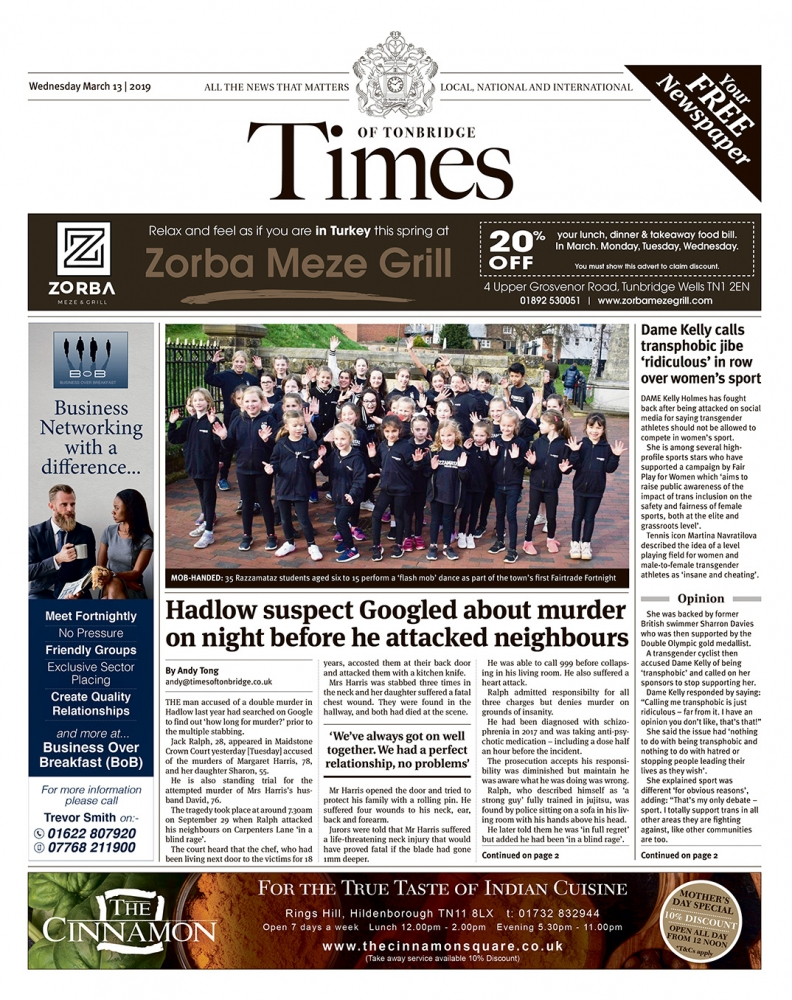 Read the Times of Tonbridge 13th March 2019