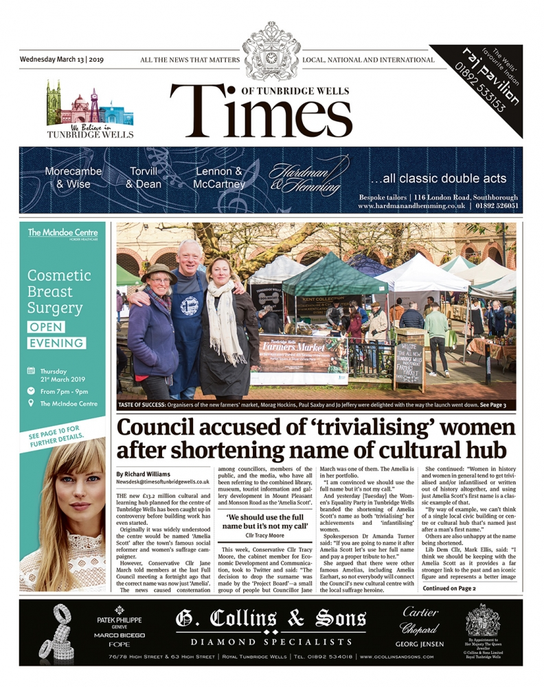 Read the Times of Tunbridge Wells 13th March 2019