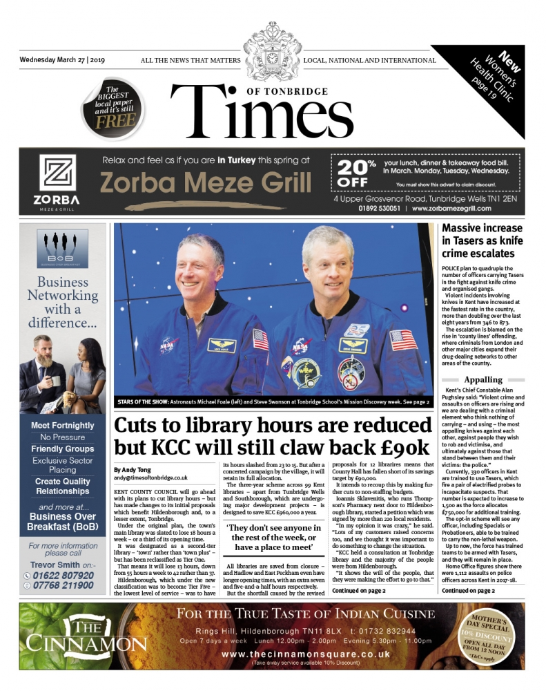 Read the Times of Tonbridge 27th March 2019