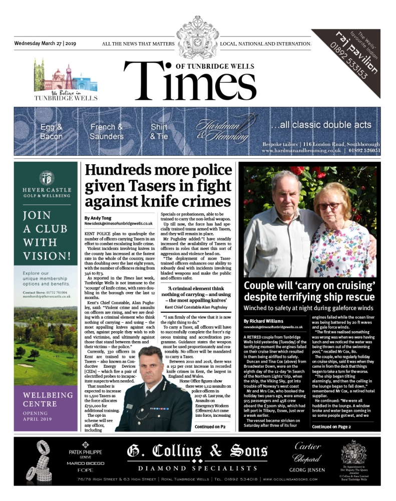 Read the Times of Tunbridge Wells 27th March 2019