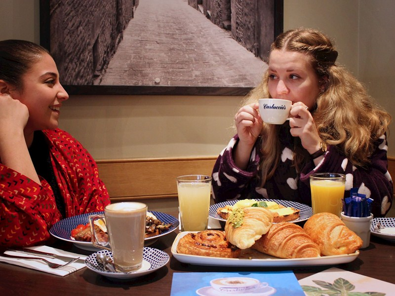 Free breakfast at Carluccio's