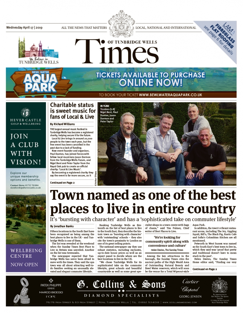 Read the Times of Tunbridge Wells 17th April 2019