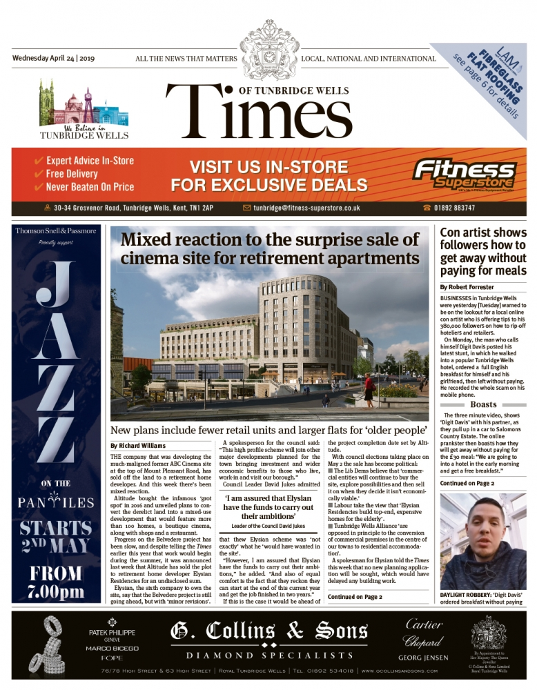 Read the Times of Tunbridge Wells 24th April 2019