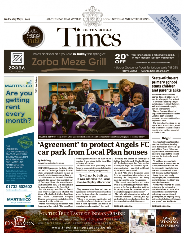 Read the Times of Tonbridge 1st May 2019