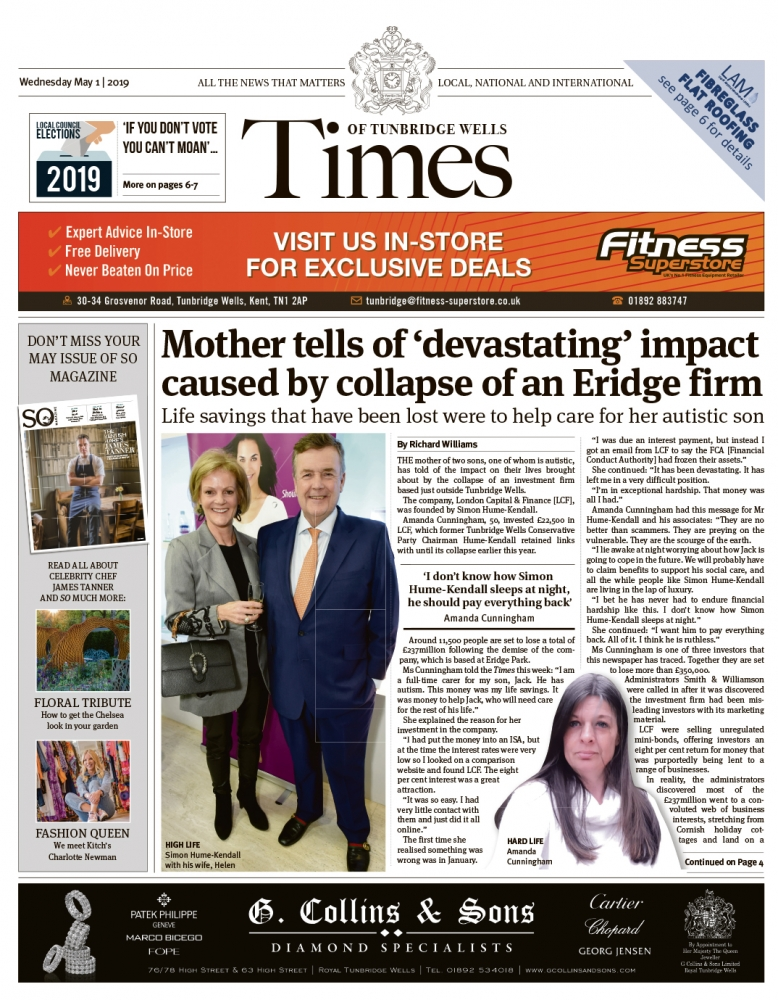 Read the Times of Tunbridge Wells 1st May 2019