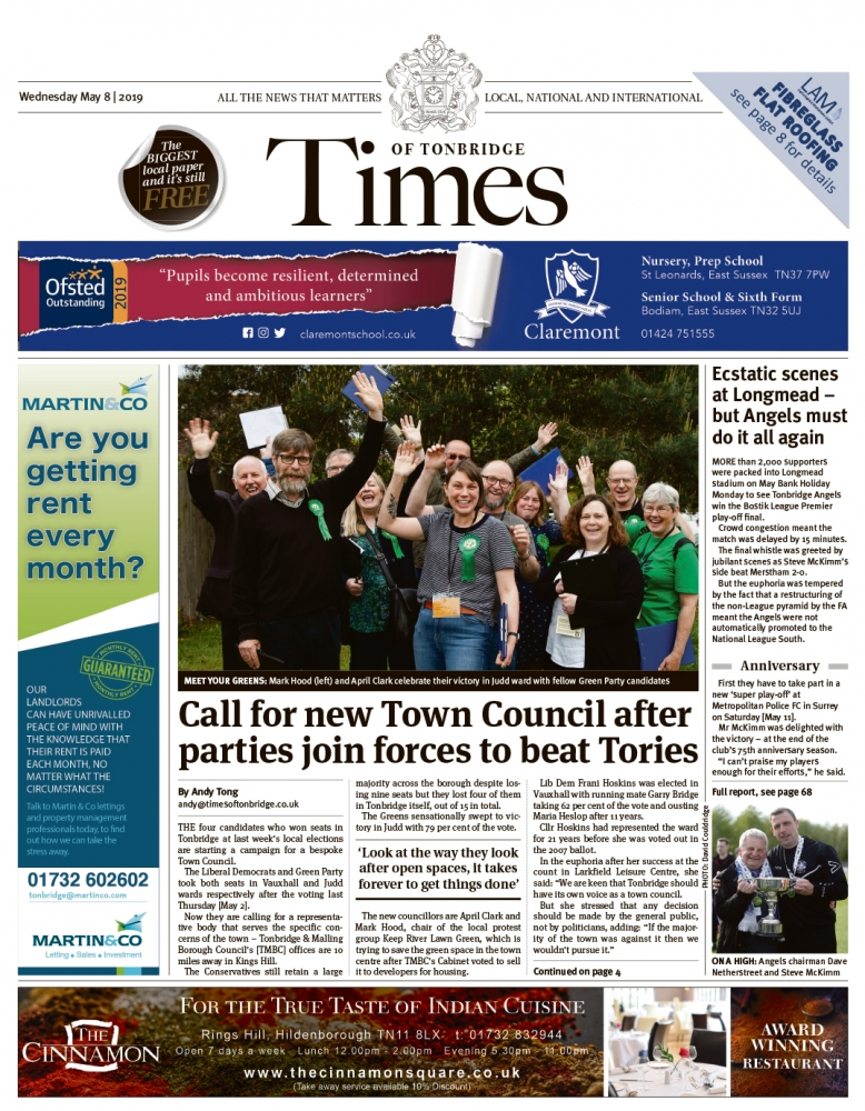 Read the Times of Tonbridge 8th May 2019
