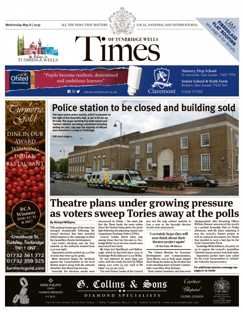Read the Times of Tunbridge Wells 8th May 2019