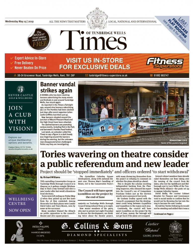 Read the Times of Tunbridge Wells 15th May 2019