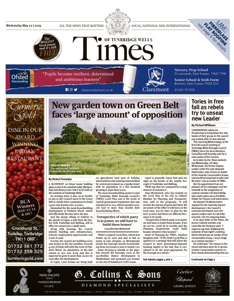 Read the Times of Tunbridge Wells 22nd May 2019