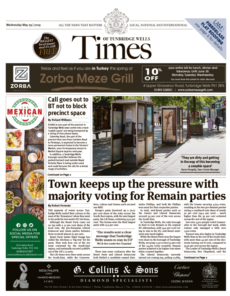 Read the Times of Tunbridge Wells 29th May 2019