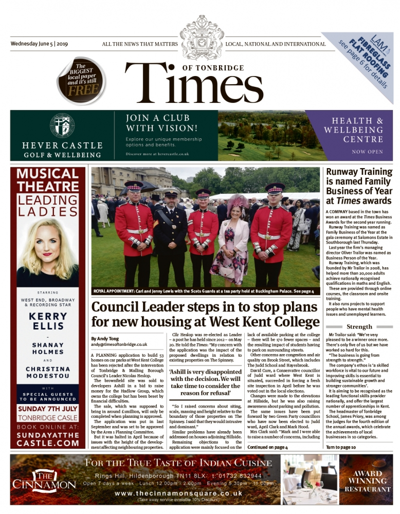 Read the Times of Tonbridge 5th June 2019