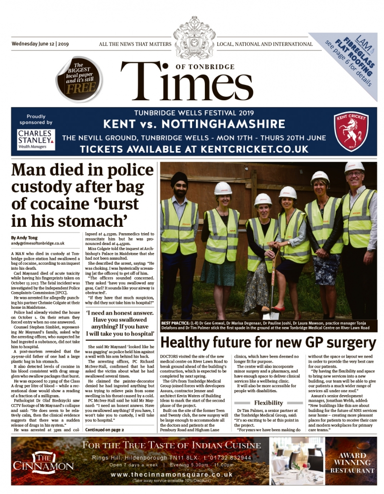 Read the Times of Tonbridge 12th June 2019