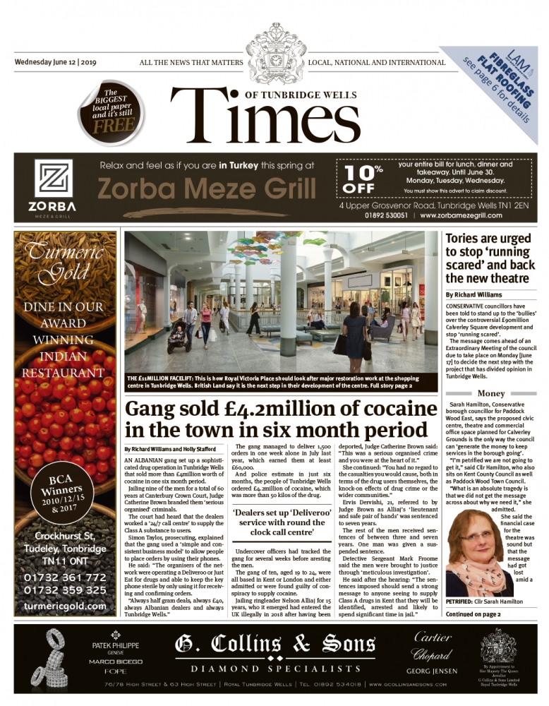 Read the Times of Tunbridge Wells 12th June 2019