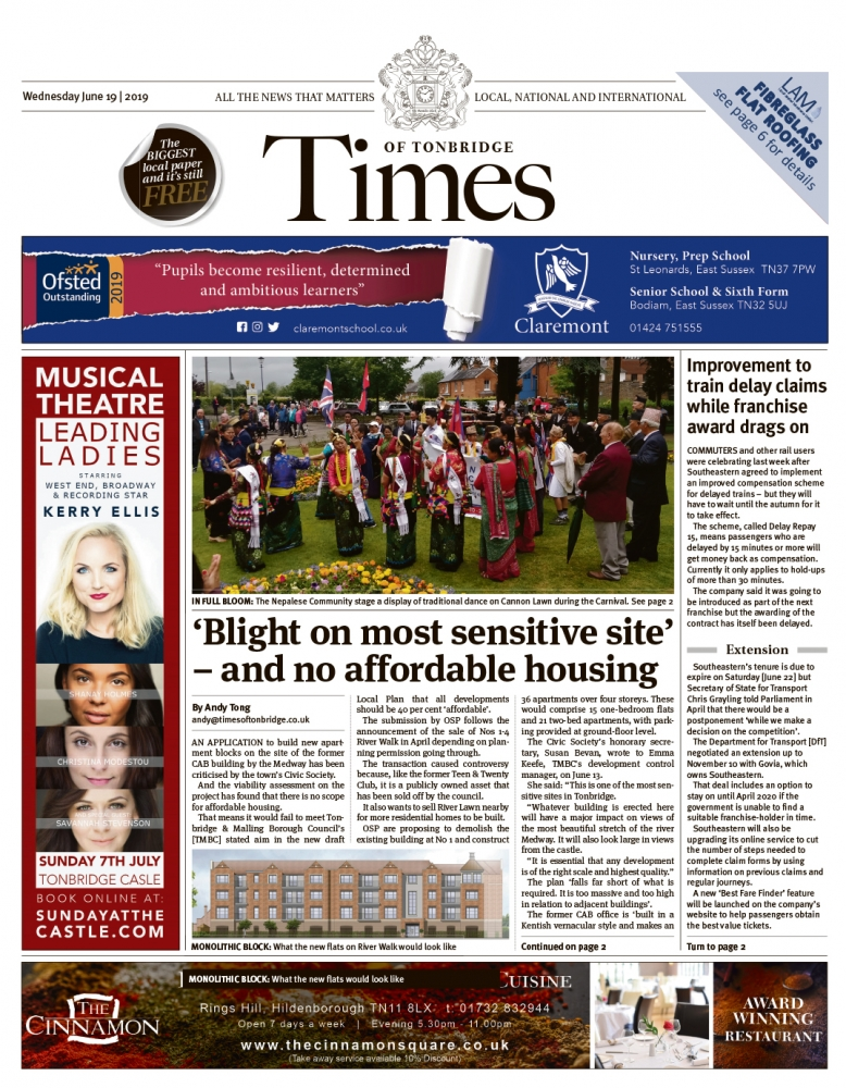 Read the Times of Tonbridge 19th June 2019