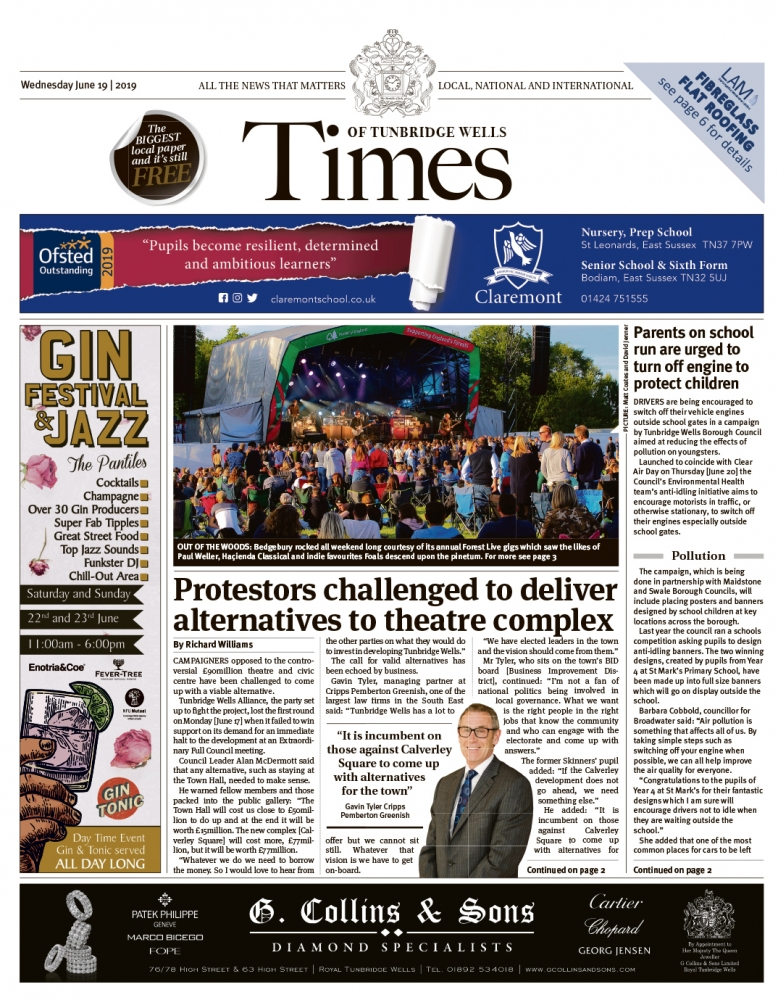 Read the Times of Tunbridge Wells 19th June 2019