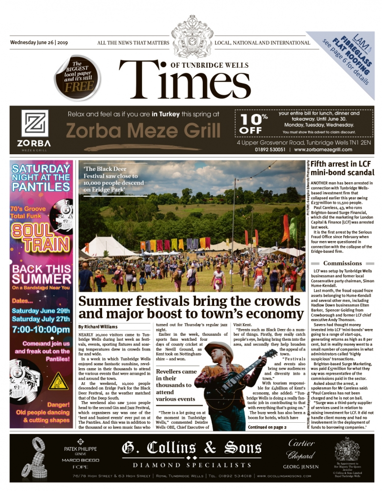 Read the Times of Tunbridge Wells 26th June 2019