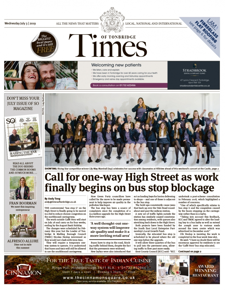 Read the Times of Tonbridge 3rd July 2019
