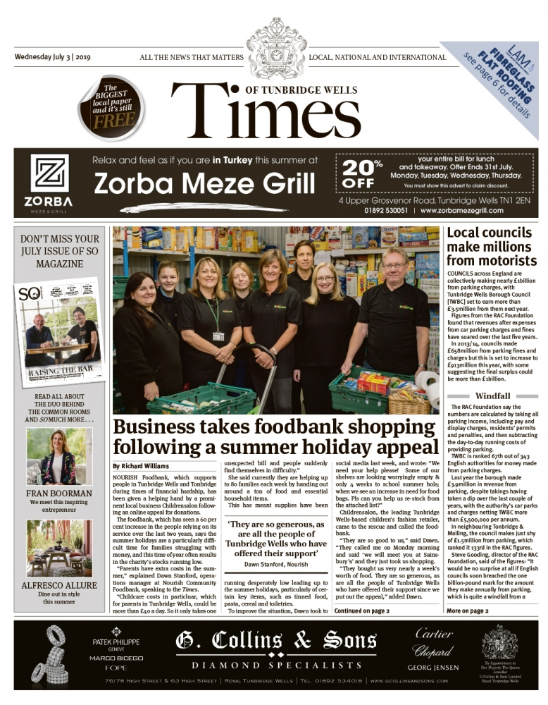 Read the Times of Tunbridge Wells 3rd July 2019