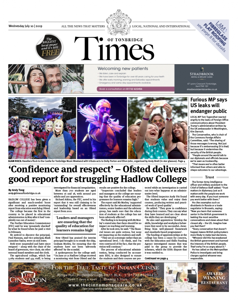 Read the Times of Tonbridge 10th July 2019