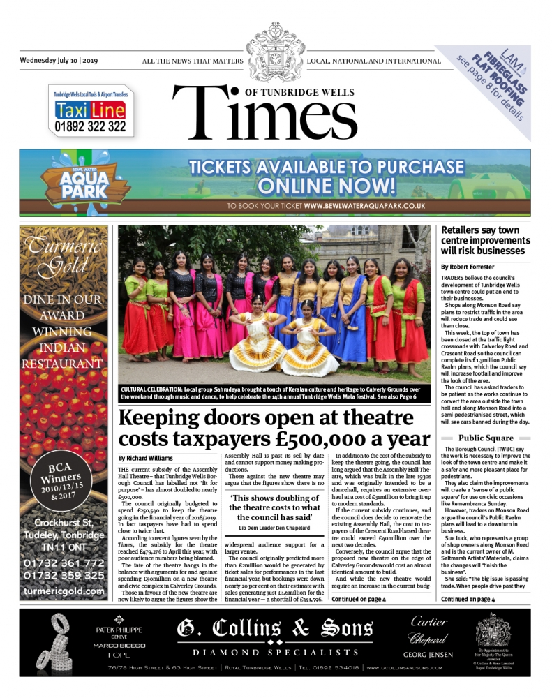 Read the Times of Tunbridge Wells 10th July 2019
