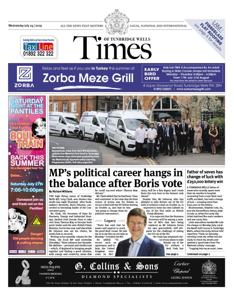 Read the Times of Tunbridge Wells 24th July 2019