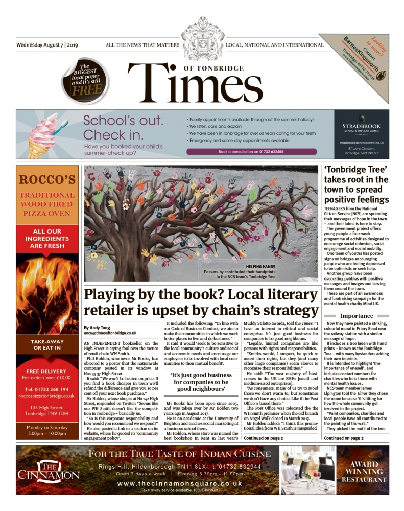 Read the Times of Tonbridge 7th August 2019