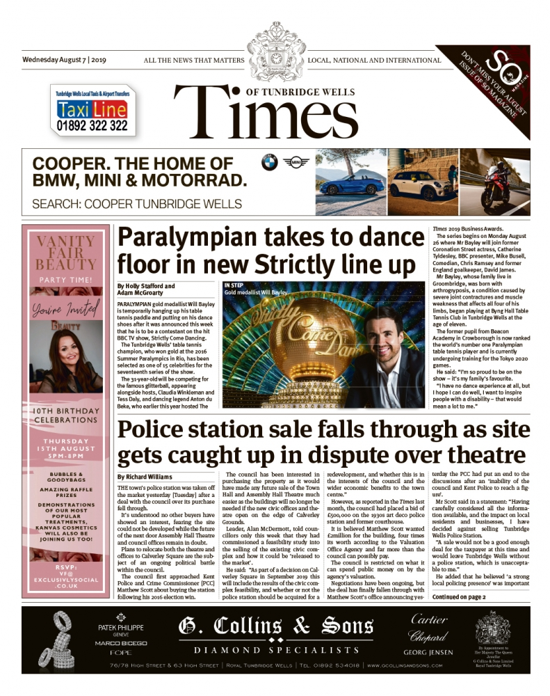 Read the Times of Tunbridge Wells 7th August 2019