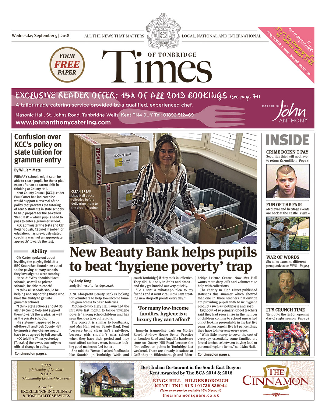 Read the Times of Tonbridge 5th September 2018