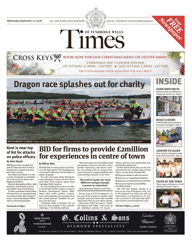 Read the Times of Tunbridge Wells 12th September 2018