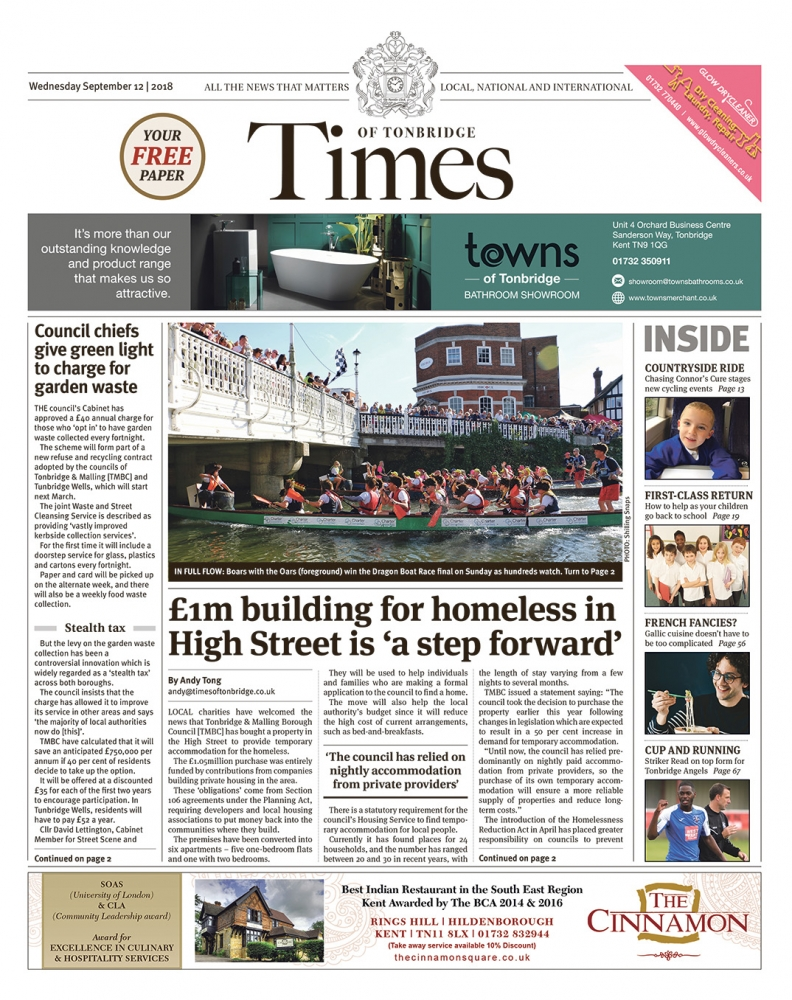 Read the Times of Tonbridge 12th September 2018