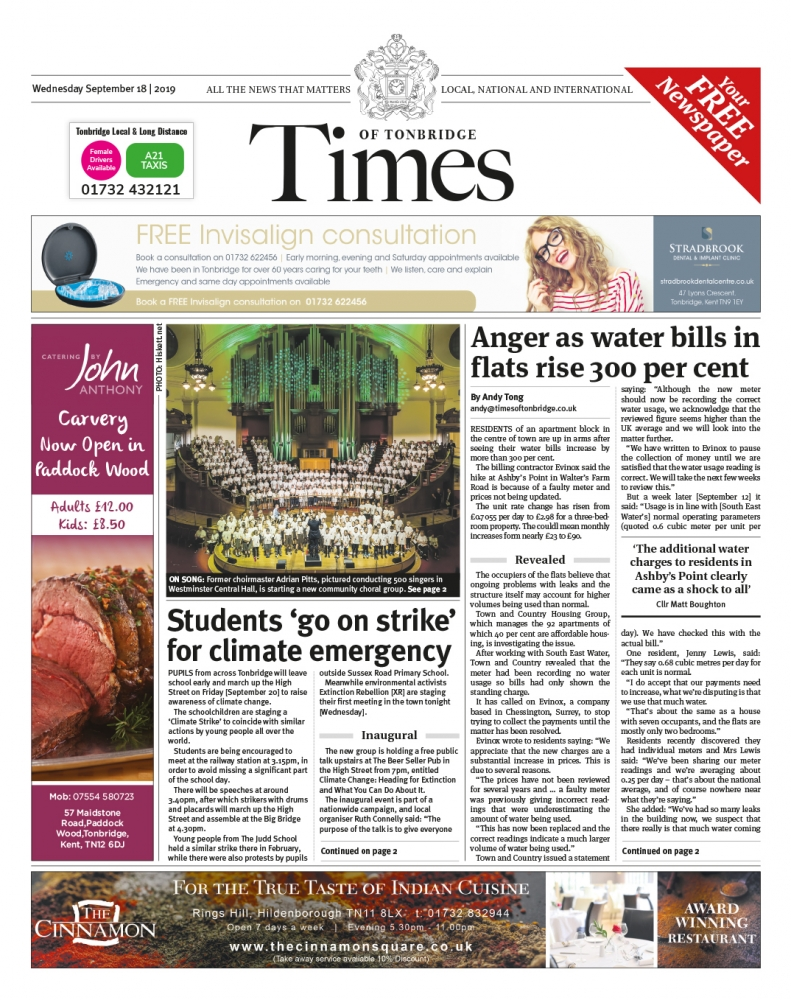 Read the Times of Tonbridge 18th September 2019