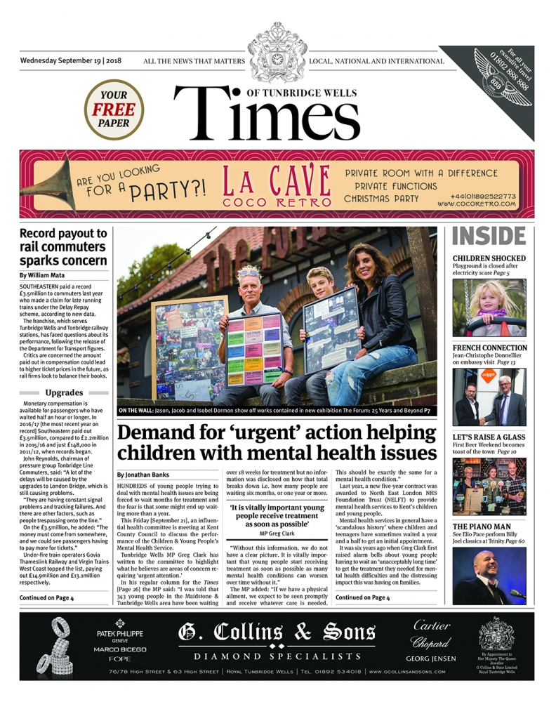 Read the Times of Tunbridge Wells 19th September 2018