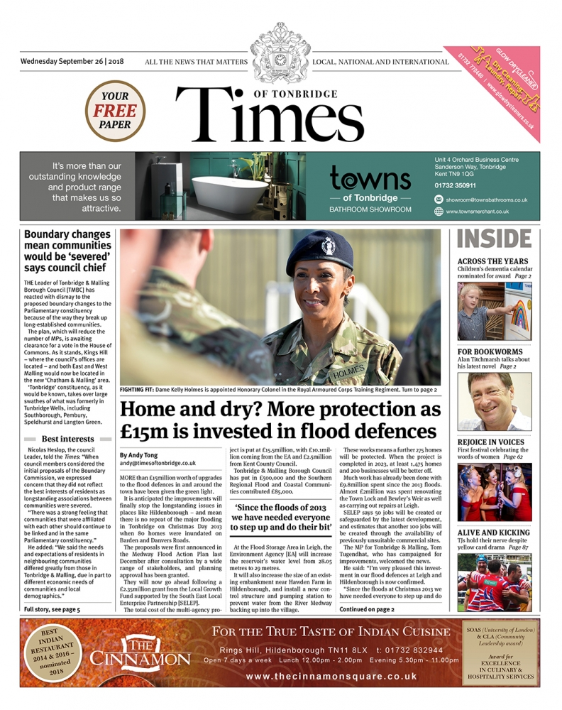 Read the Times of Tonbridge 26th September 2018