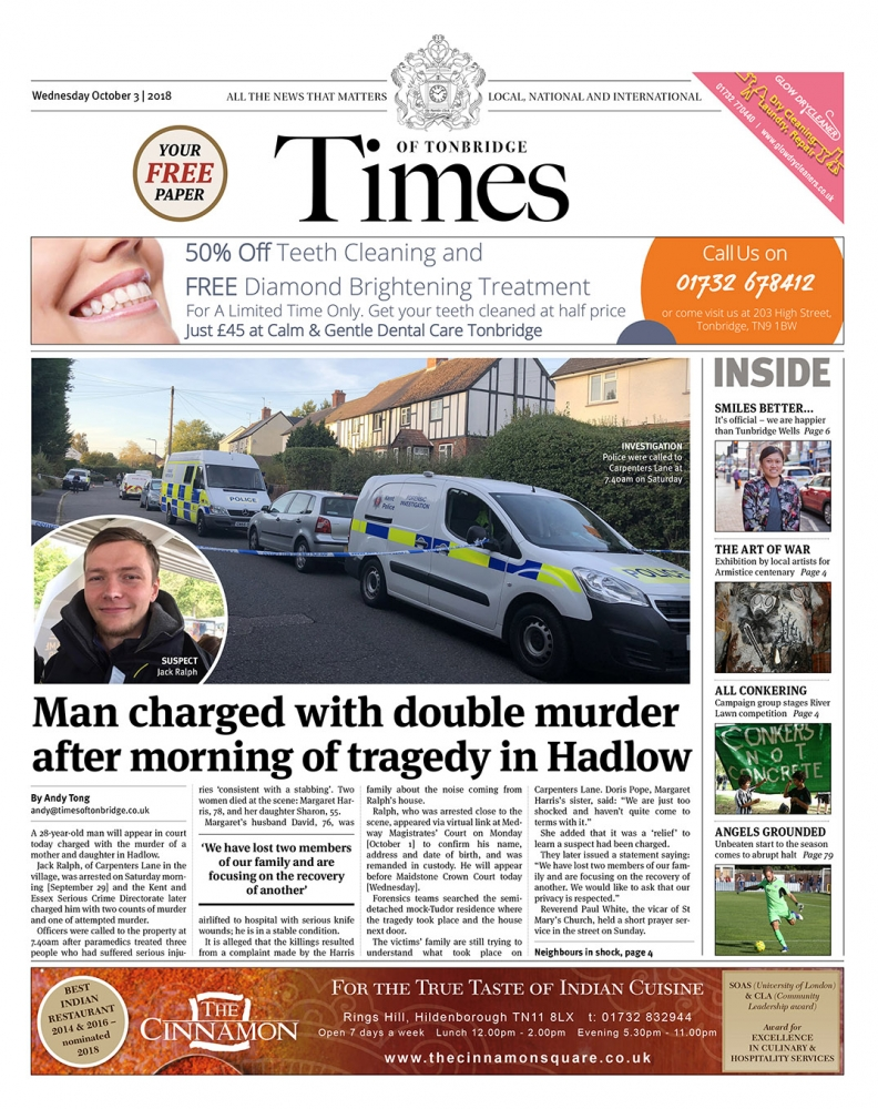Read the Times of Tonbridge 3rd October 2018