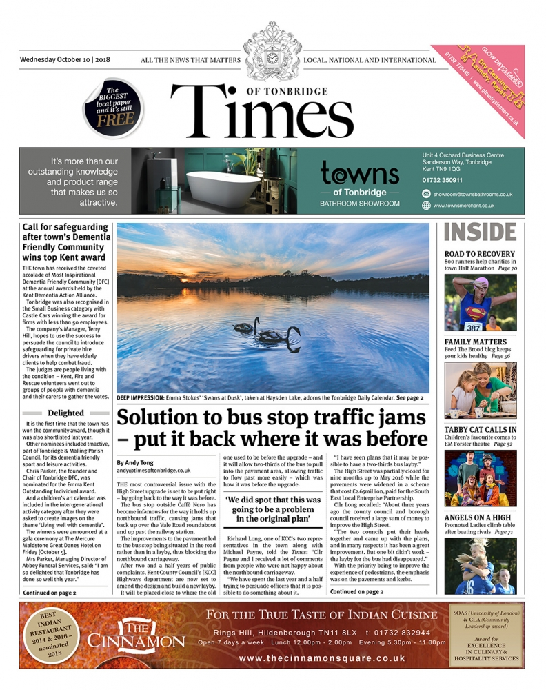 Read the Times of Tonbridge 10th October 2018