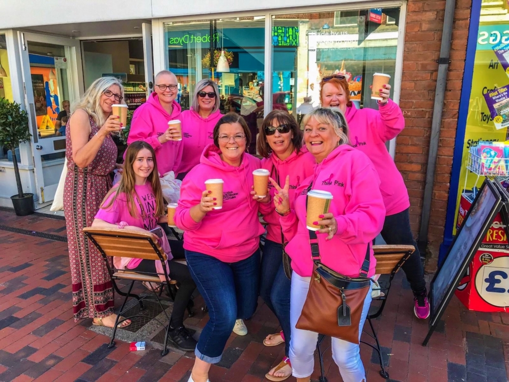 Campaigners 'turn Tonbridge pink' to raise awareness of breast cancer