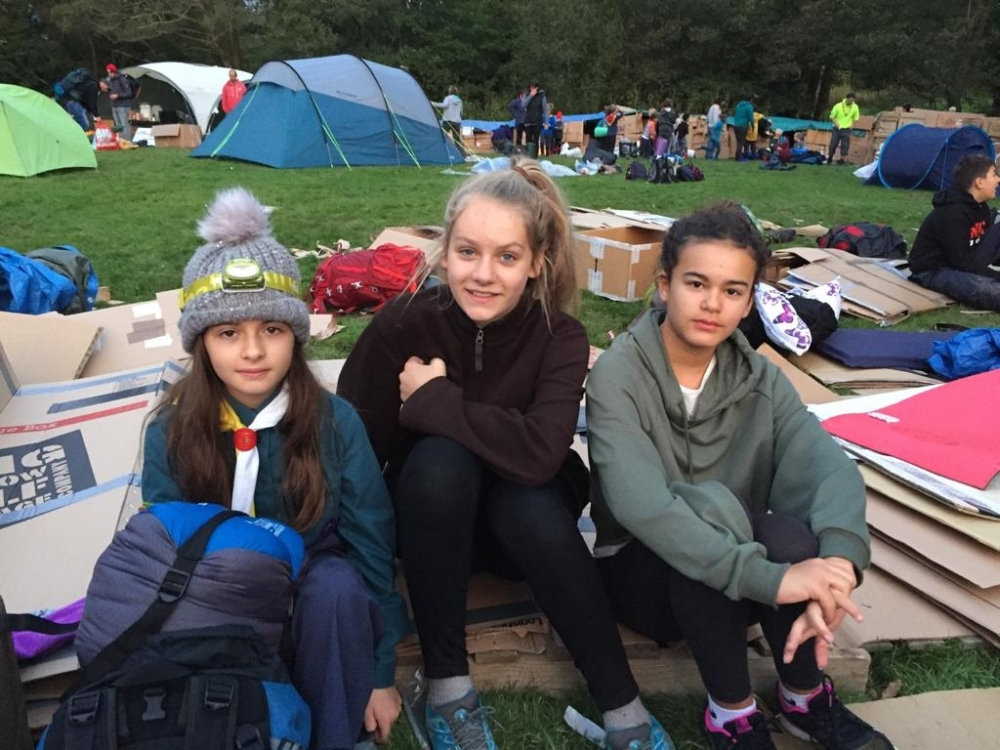 Scouts' Big Cardboard Sleep Out raises awareness of homelessness – and thousands for Porchlight…