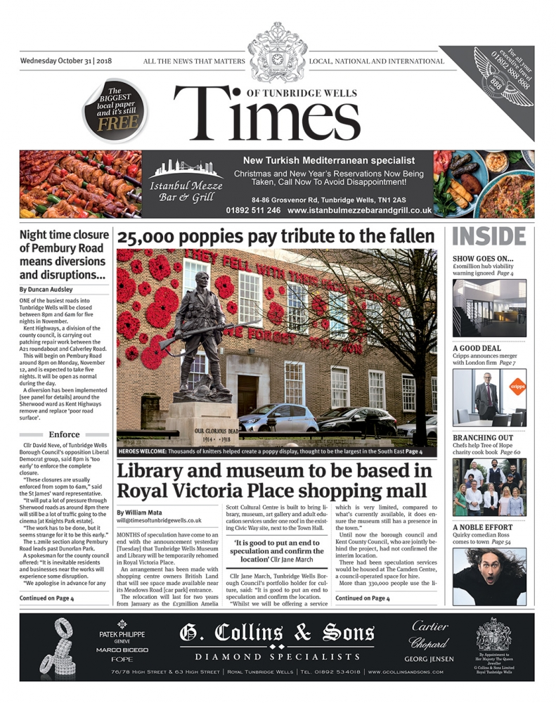 Read the Times of Tunbridge Wells 31st October 2018