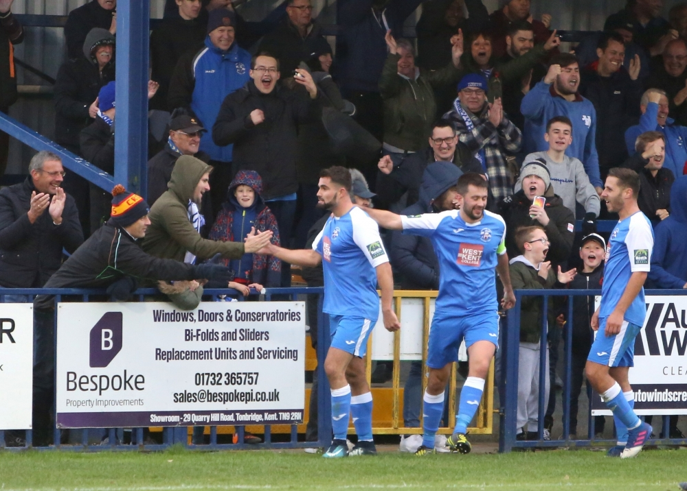 Football: Three red cards as Tonbridge Angels sneak through