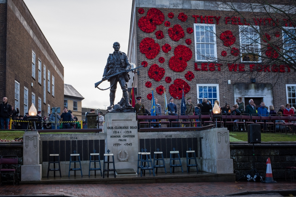 Record crowds pay their respects on centenary Remembrance Day