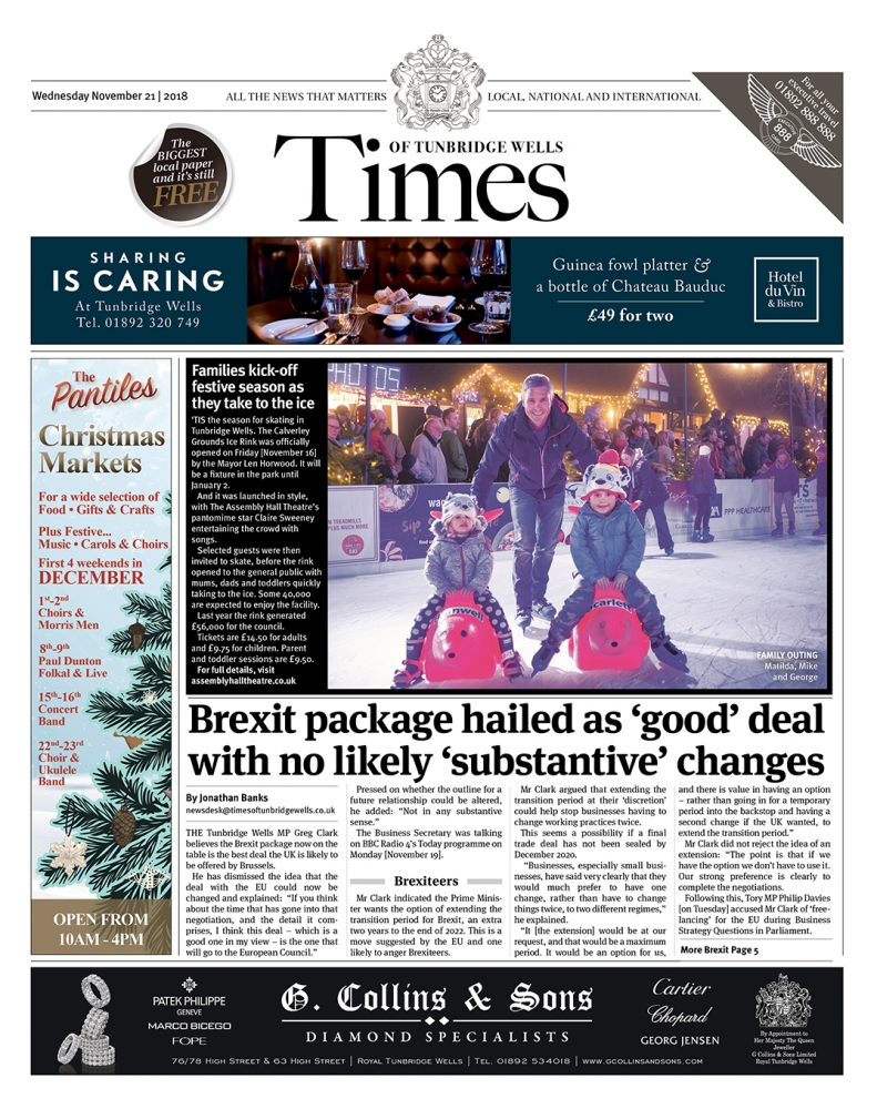 Read the Times of Tunbridge Wells 21st November 2018