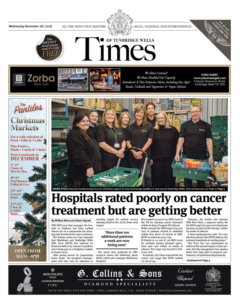 Read the Times of Tunbridge Wells 28th November 2018