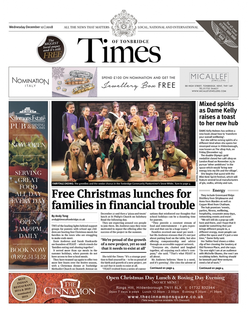 Read the Times of Tonbridge 12th December 2018