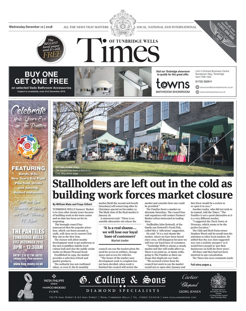 Read the Times of Tunbridge Wells 12th December 2018