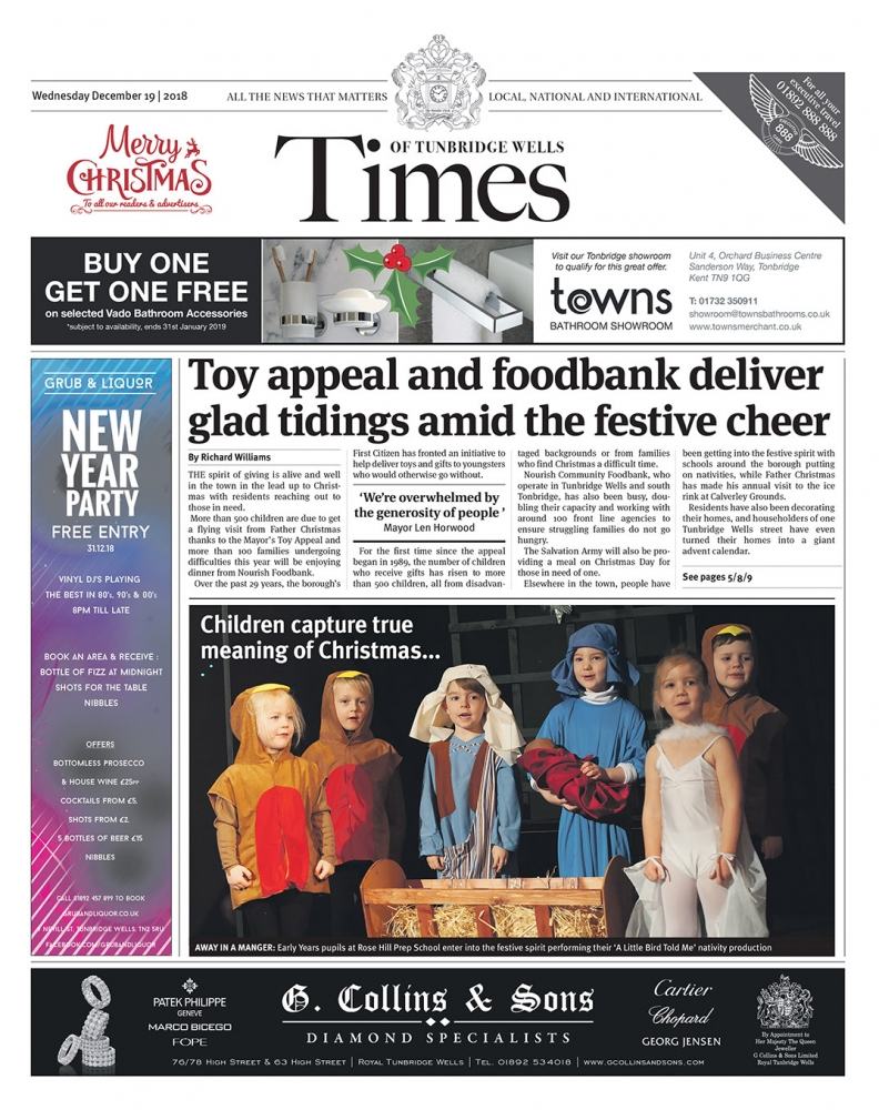 Read the Times of Tunbridge Wells 19th December 2018
