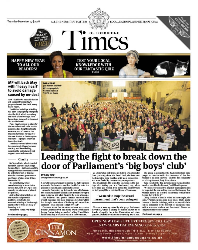 Read the Times of Tonbridge 27th December 2018